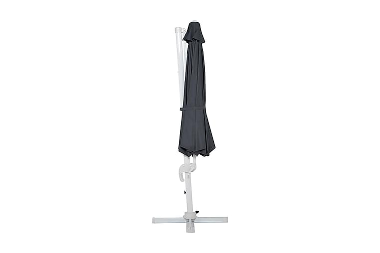 Hillerstorp Vienna Aurinkovarjo 3,5 m - Harmaa/Valkoinen - Puutarhakalusteet - Aurinkosuojat - Aurinkovarjot