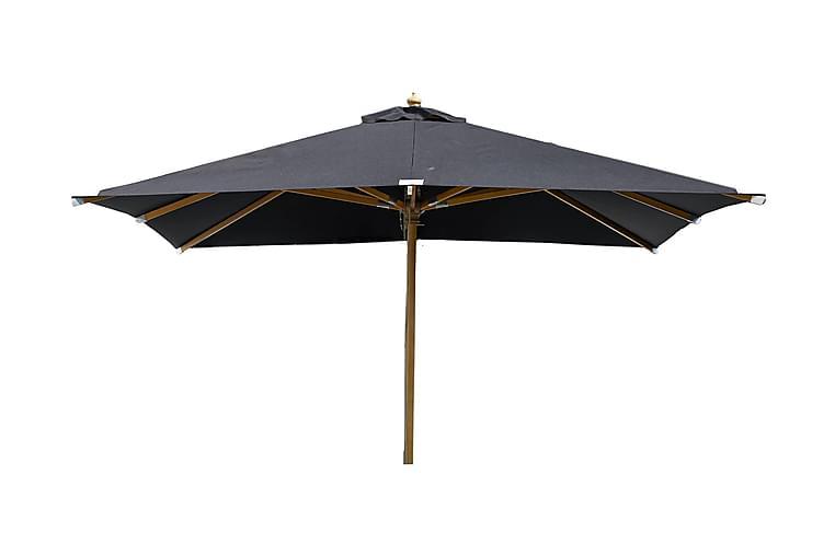 Nala Aurinkovarjo 3x3m Puu - Musta/Luonnonväri - Puutarhakalusteet - Aurinkosuojat - Aurinkovarjot