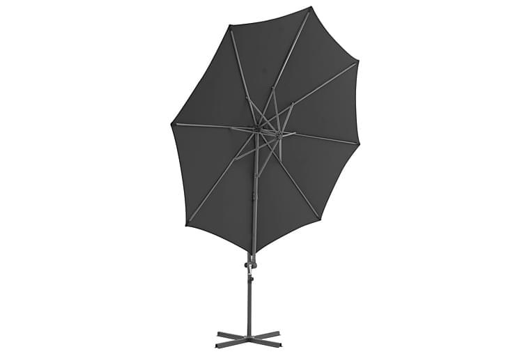 Päivänvarjo kannettavalla pohjalla antrasiitti - Harmaa - Puutarhakalusteet - Aurinkosuojat - Aurinkovarjot