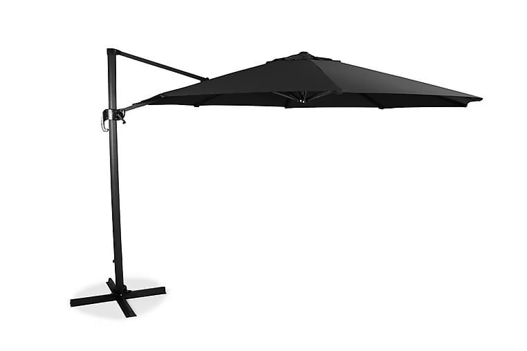 Riippuva Aurinkovarjo XL 350cm Musta - Puutarhakalusteet - Aurinkosuojat - Aurinkovarjot