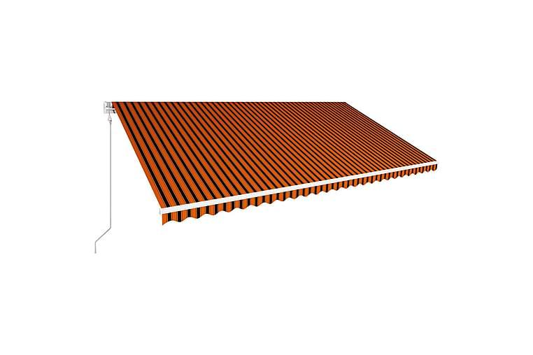 Automaattinen sisäänkelattava markiisi 600x300cm - Oranssi - Puutarhakalusteet - Aurinkosuojat - Markiisit