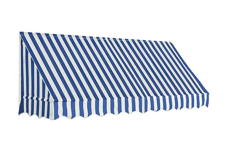 Bistromarkiisi 250x120 cm sininen ja valkoinen - Sininen - Puutarhakalusteet - Aurinkosuojat - Markiisit