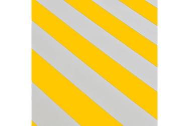Käsikäyttöinen taittuva markiisi 400 cm keltainen/valkoinen