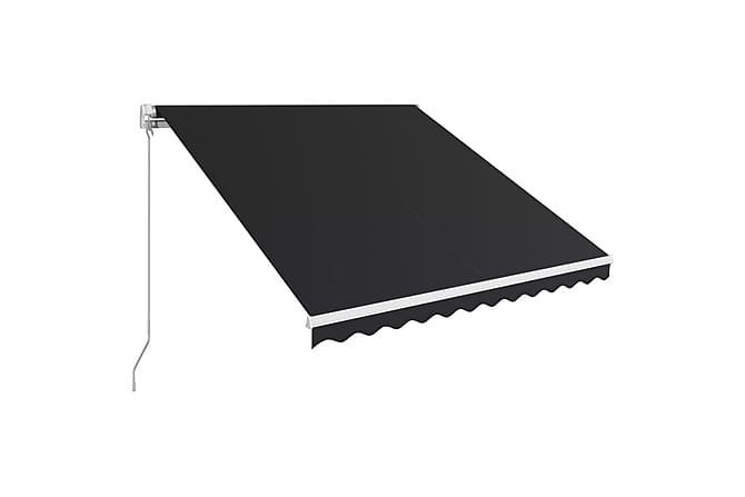 Manuaalisesti sisäänkelattava markiisi 300x250cm antrasiitti - Harmaa - Puutarhakalusteet - Aurinkosuojat -