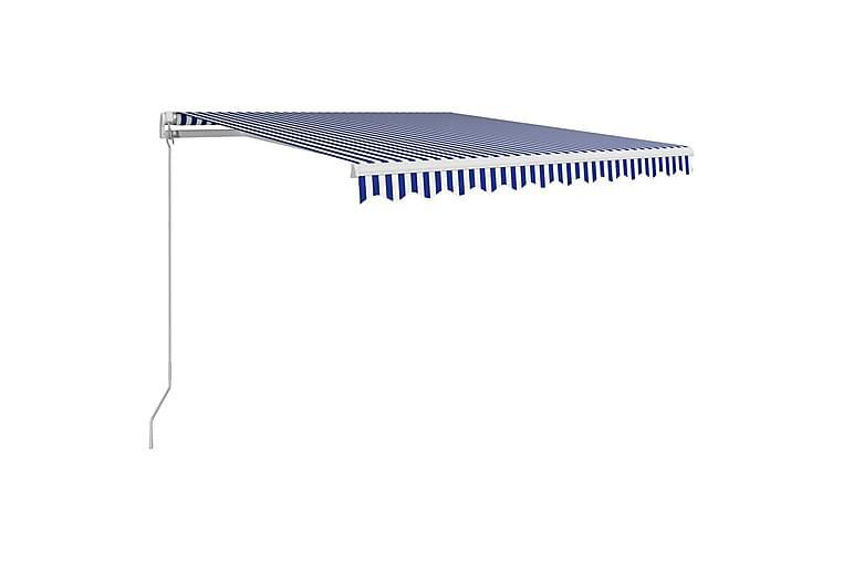 Manuaalisesti sisäänkelattava markiisi 300x250cm - Sininen - Puutarhakalusteet - Aurinkosuojat - Markiisit