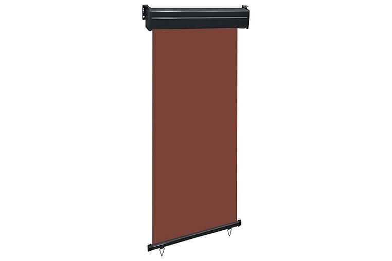 Parvekkeen sivumarkiisi 100x250 cm ruskea - Ruskea - Puutarhakalusteet - Aurinkosuojat - Markiisit