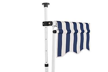 Sisäänkelattava markiisi 150 cm Sinivalkoiset raidat