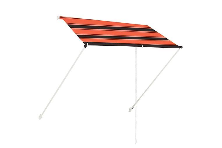 Sisäänkelattava markiisi 200x150 cm oranssi ja ruskea - Monivärinen - Puutarhakalusteet - Aurinkosuojat - Markiisit
