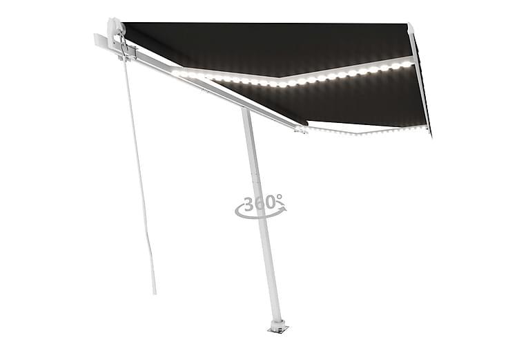 Sisäänkelattava markiisi LEDillä 400x300 cm antrasiitti - Antrasiitti - Puutarhakalusteet - Aurinkosuojat - Markiisit