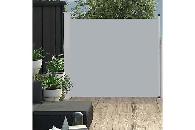 Sisäänvedettävä terassin sivumarkiisi 100x300 cm harmaa - Harmaa - Puutarhakalusteet - Aurinkosuojat - Markiisit