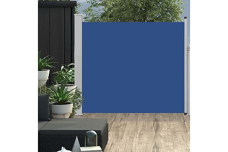 Sisäänvedettävä terassin sivumarkiisi 100x300 cm sininen - Sininen - Puutarhakalusteet - Aurinkosuojat - Markiisit