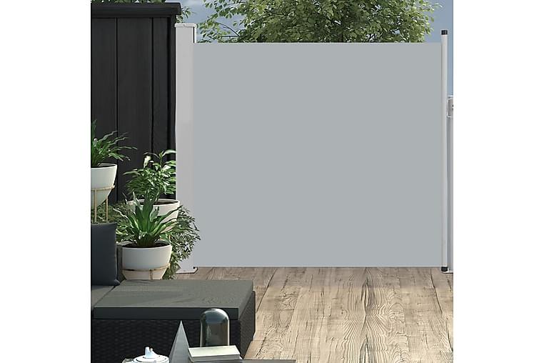 Sisäänvedettävä terassin sivumarkiisi 170x300 cm harmaa - Harmaa - Puutarhakalusteet - Aurinkosuojat - Markiisit