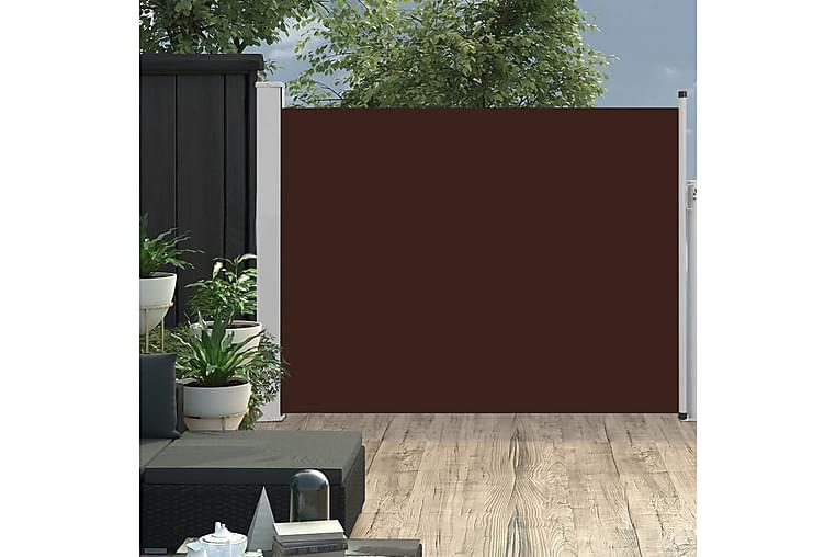 Sisäänvedettävä terassin sivumarkiisi 170x500 cm ruskea - Ruskea - Puutarhakalusteet - Aurinkosuojat - Markiisit