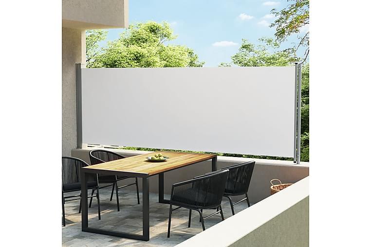 Sisäänvedettävä terassin sivumarkiisi 600x160 cm kerma - Kerma - Puutarhakalusteet - Aurinkosuojat - Markiisit
