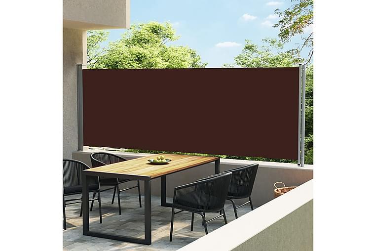 Sisäänvedettävä terassin sivumarkiisi 600x160 cm ruskea - Ruskea - Puutarhakalusteet - Aurinkosuojat - Markiisit