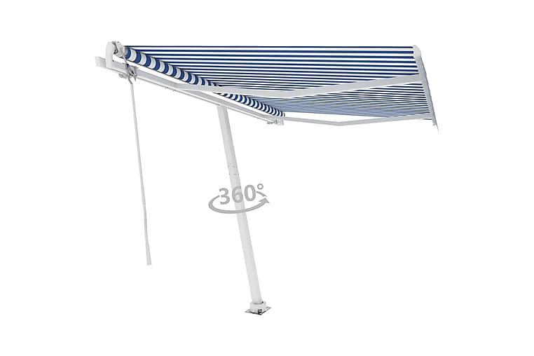 Vapaasti seisova sisäänkelattava markiisi 350x250 cm - Sininen - Puutarhakalusteet - Aurinkosuojat - Markiisit