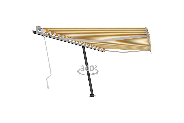 Vapaasti seisova sisäänkelattava markiisi 400x350 cm - Keltainen - Puutarhakalusteet - Aurinkosuojat - Markiisit