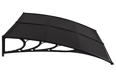 Ovikatos musta 240x100 cm muovi
