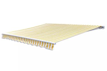 Taittomarkiisi 300 cm Keltainen & valkoinen