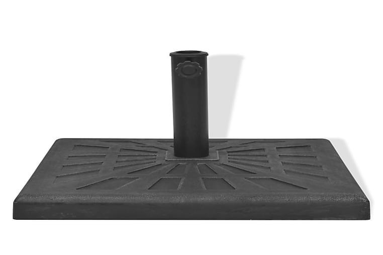 Aurinkovarjon Alusta Hartsi Neliö Musta 19 kg - Musta - Puutarhakalusteet - Aurinkosuojat - Aurinkovarjon jalat