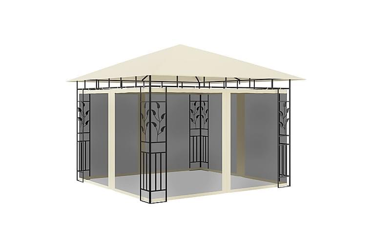Huvimaja hyttysverkolla 3x3x2,73 m kerma 180 g/m² - Puutarhakalusteet - Aurinkosuojat - Paviljongit