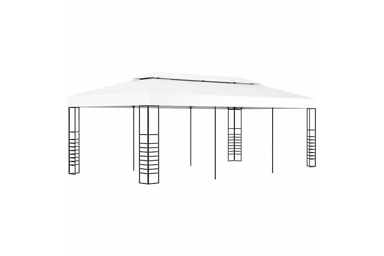 Huvimaja katos 6x3 m valkoinen - Valkoinen - Puutarhakalusteet - Aurinkosuojat - Paviljongit