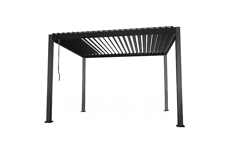 Huvimaja Mirador 300x300xK250 cm Tummanharmaa - Puutarhakalusteet - Aurinkosuojat - Paviljongit