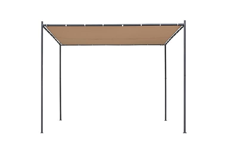 Huvimaja tasakatolla 300x300x251 cm antrasiitti 180 g/m² - Beige - Puutarhakalusteet - Aurinkosuojat - Paviljongit