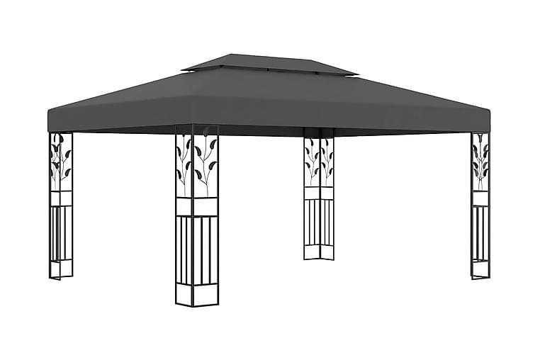 Huvimaja tuplakatolla 3x4 m antrasiitti - Antrasiitti - Puutarhakalusteet - Aurinkosuojat - Paviljongit