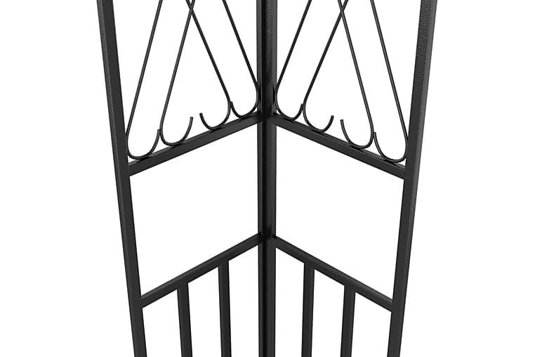 Huvimaja valonauhoilla 3x4 m ruskeanharmaa kangas - Puutarhakalusteet - Aurinkosuojat - Paviljongit
