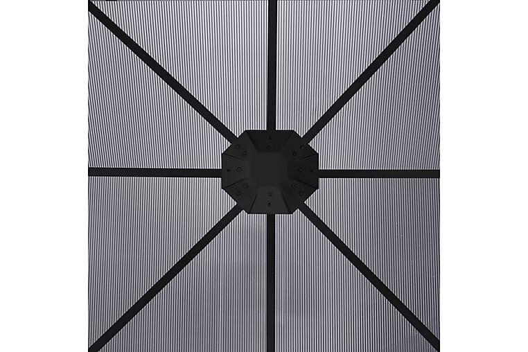 Huvimaja verhoilla 300x300x265 cm antrasiitti - Antrasiitti - Puutarhakalusteet - Aurinkosuojat - Paviljongit
