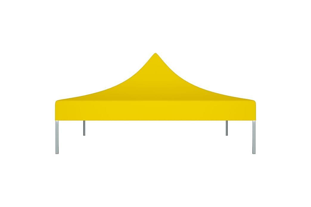 Juhlateltan katto 2x2 m keltainen 270 g/m² - Keltainen - Puutarhakalusteet - Aurinkosuojat - Paviljongit