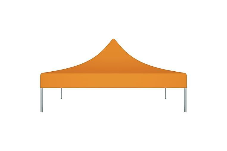 Juhlateltan katto 3x3 m oranssi 270 g/m² - Oranssi - Puutarhakalusteet - Aurinkosuojat - Paviljongit