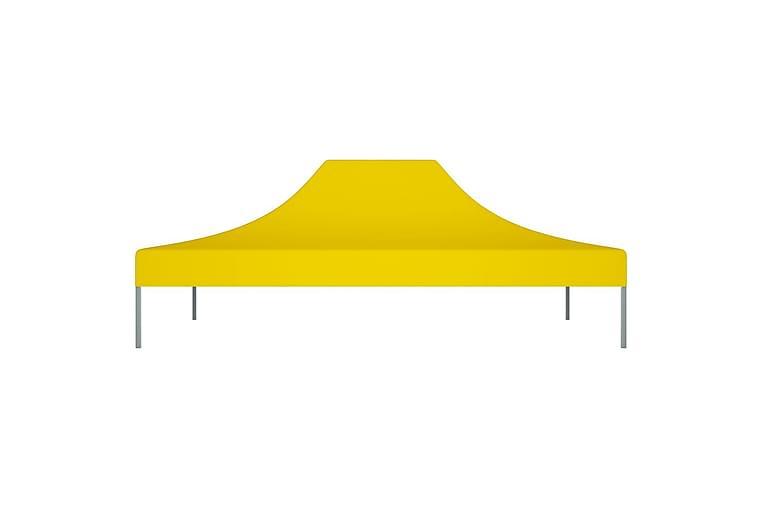 Juhlateltan katto 4x3 m keltainen 270 g/m² - Keltainen - Puutarhakalusteet - Aurinkosuojat - Paviljongit