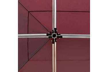 Kokoontaittuva juhlateltta seinillä alumiini 6x3 m viininpun