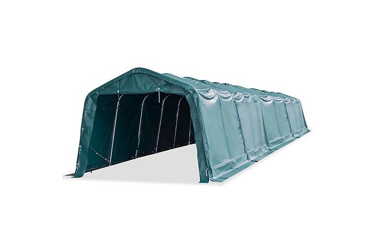 Irrotettava karjateltta PVC 550 g/m² 3,3x16 m tummanvihreä - Puutarhakalusteet - Aurinkosuojat - Sermit ja tuulisuojat