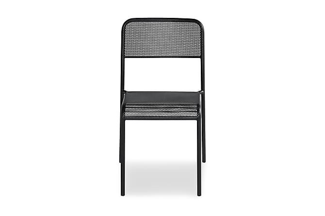 Tuoli Logan - Musta - Puutarhakalusteet - Valitse materiaalin mukaan - Alumiini & teräs