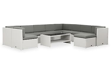 ROLLS Ryhmä XL 2 + 2 Pöytää Hyllyllä Valkoinen/harmaa