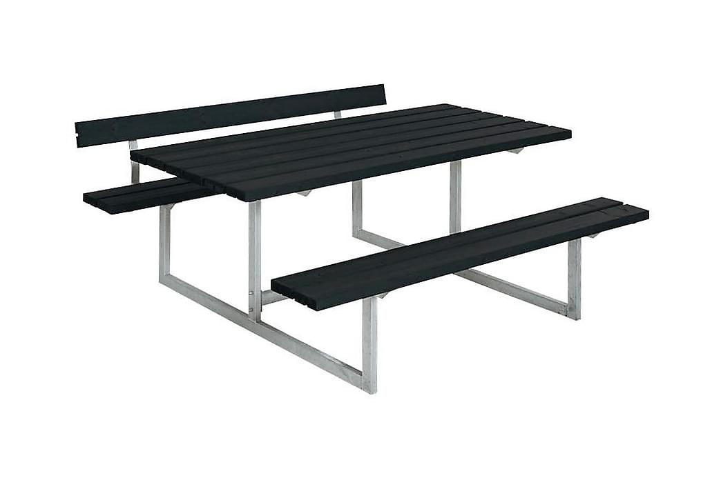 Basic Pöytä- ja penkkisetti 1 selkänojalla - Puutarhakalusteet - Valitse materiaalin mukaan - Puu & tiikki