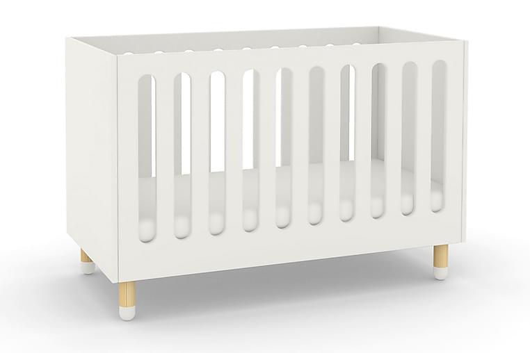 Pinnasänky Junnu Play - Valkoinen 124x64x92 - Puutarhakalusteet - Valitse materiaalin mukaan - Puu & tiikki