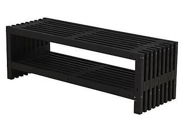 Rustik Rimapenkki Design 138x49x45cm hyllyllä - svart