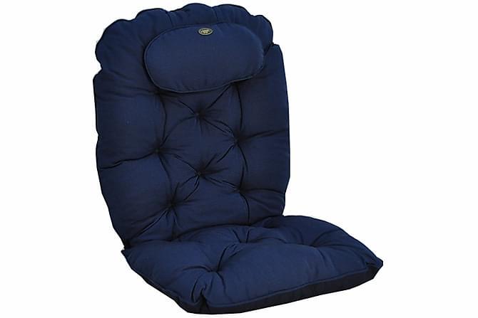 LYX Istuinpehmuste niskatyynyllä - Sininen - Puutarhakalusteet - Pehmusteet - Istuintyynyt