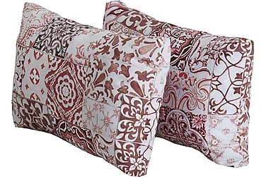 Flokkisivutyynyt Morocco Puna/valkoinen