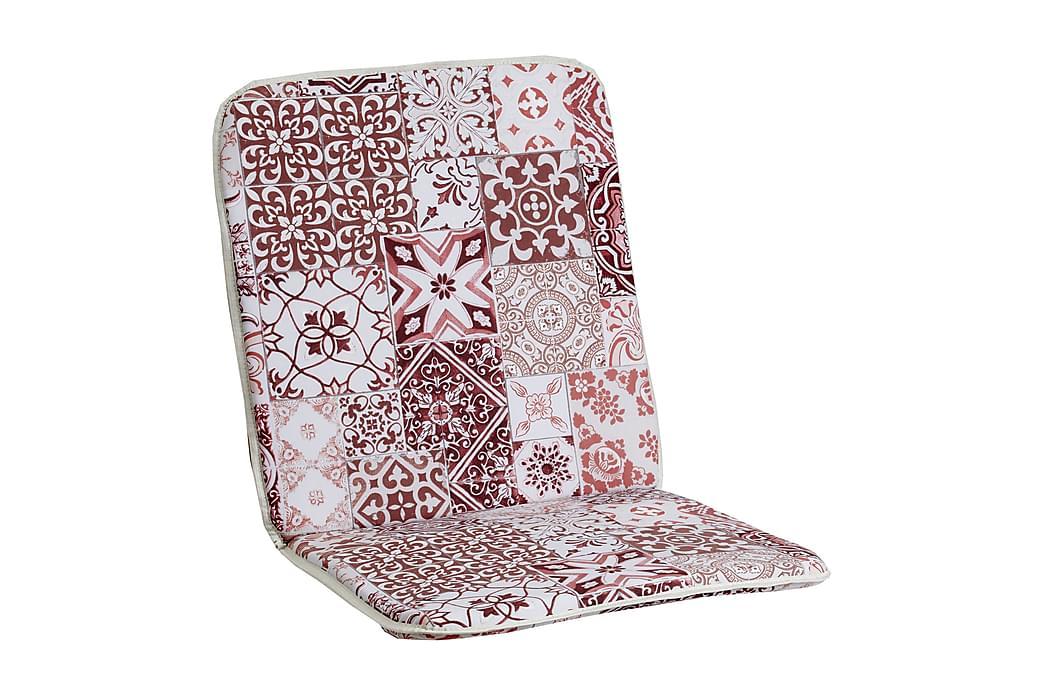 Lepotuolin istuinpehmuste Morocco Minivik Puna/valkoinen - Puutarhakalusteet - Pehmusteet - Säätötuolin pehmusteet