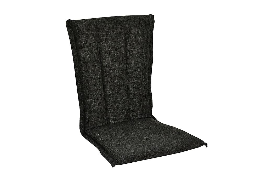 Nojatuolin pehmuste Glasgow Musta - Harmaa - Puutarhakalusteet - Pehmusteet - Säätötuolin pehmusteet