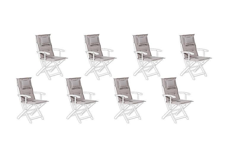 Pehmuste Octavio Puutarhatuoliin 8-pak - Beige - Puutarhakalusteet - Pehmusteet - Säätötuolin pehmusteet