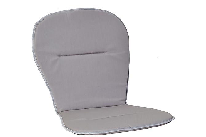 Pinottavan tuolin istuinpehmuste Matala Vaaleanharmaa - Puutarhakalusteet - Pehmusteet - Säätötuolin pehmusteet