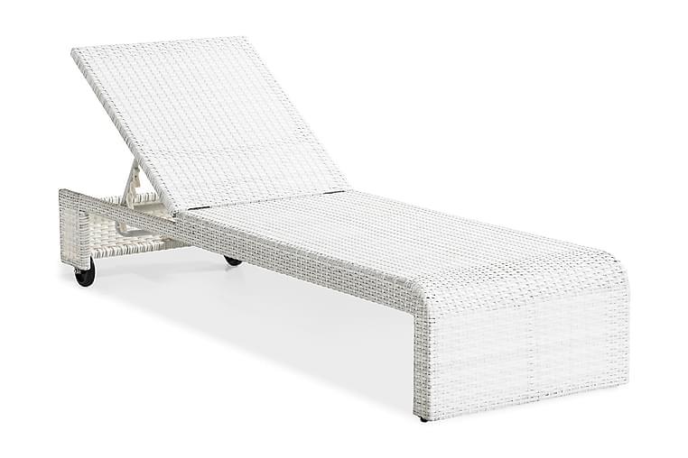 Aurinkosänky Bahamas - Valkoinen - Puutarhakalusteet - Tuolit & nojatuolit - Aurinkosänky & aurinkovaunu