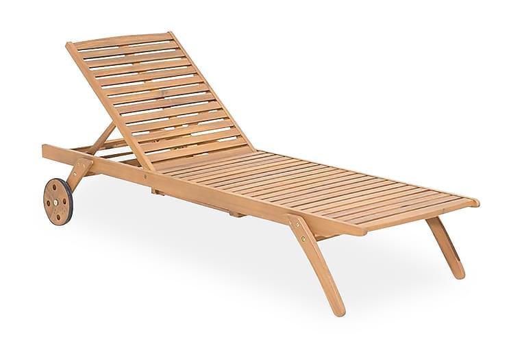 Aurinkosänky Cesana 61x195 cm - Puu/Luonnonväri - Puutarhakalusteet - Tuolit & nojatuolit - Aurinkosänky & aurinkovaunu