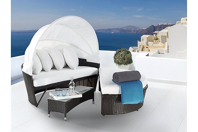 Aurinkosänky Lux 150 cm - Valkoinen - Puutarhakalusteet - Tuolit & nojatuolit - Aurinkosänky & aurinkovaunu